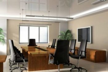 glossy reflective suspended ceiling county of Polk