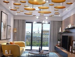 glossy reflective suspended ceiling county of Miami-Dade